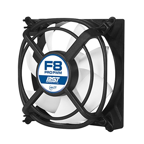 - ARCTIC F8 Pro PWM PST - 80 mm PWM PST Case Fan with Vibration-Absorbing | PST-Port (PWM Sharing Technology) | Ideal for Parallel Circuits of Fans