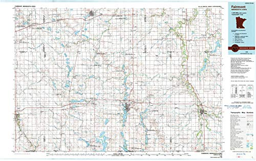 Historic Map | Fairmont, Minnesota (MN) 1985 | USGS Historical Topographic Map | Vintage Chart Wall Art Poster Decor Reproduction | 44in x 28in