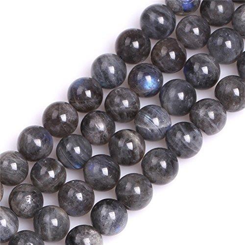 AA Grade Genuine Natural Blue Rainbow Labradorite Precious Stone Beads for Jewelry Making 15'' (10mm) ()