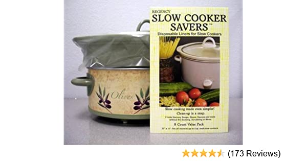 Slow Cooker Savers 8 Disposable Liners for Slow Cookers by Regency Wraps