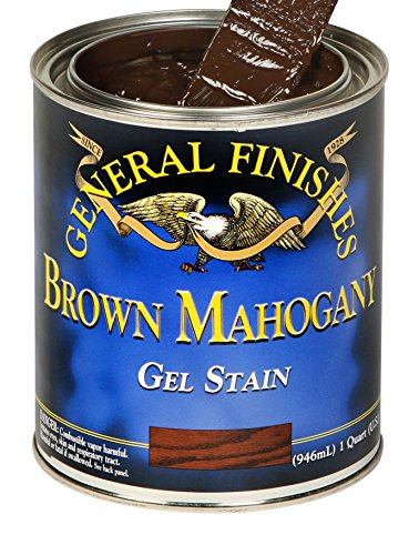 Stain Brown Black - General Finishes Gel Stain, 1 quart, Brown Mahogany