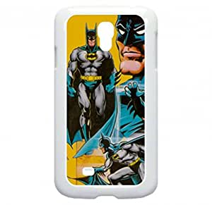 Batman-Vintage Wallpaper- Samsung Galaxy S4 I9500 - Hard white plastic case with black soft rubber lining (double layer).