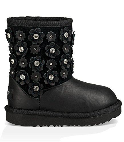 UGG Little Kids Classic Short II Petal Boot Black Size 12 Little Kid M (Kids Ugg 12 Size)