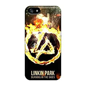 Shock Absorption Hard Phone Cases For Iphone 5/5s With Unique Design Vivid Linkin Park Pattern SherriFakhry