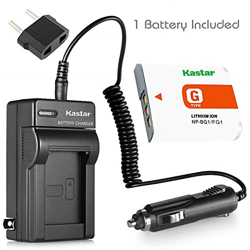 Kastar NP-BG1 Battery (1-Pack) and Charger Kit for Sony NP-FG1, BC-CSG and Sony Cyber-shot DSC-H50, Cyber-shot DSC-H10, Cyber-shot DSC-W120, Cyber-shot DSC-W170, Cyber-shot DSC-W300 Digital Cameras (Sony Cyber Shot Dsc W170 Battery Charger)