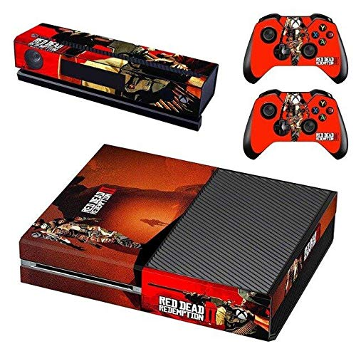 Calantha & Partner Vinyl Skin Sticker Cover Decal for Microsoft Xbox One Console and Remote Controllers Red Dead HD Printing (Ps3 Controller Skin Weed)