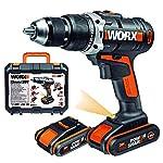 Worx-WX372-Trapano-Avvitatore-con-Percussione-Mandrino-in-Metallo-Autoserrante-13mm-Batteria-20V