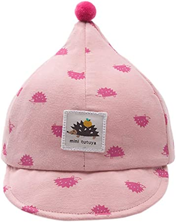 Kanggest.Gorro de Béisbol Sombrero de Bebé Niña Niño 3-8 Meses Recién Nacido del Algodón Suave Patrón Erizo Sombrero con Pompom para Sol Hueco Transpirable Verano-Rosado: Amazon.es: Hogar