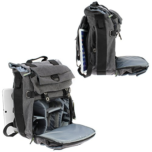 Amazon.com : Camera Backpack, Evecase Canvas DSLR Camera Travel ...