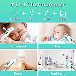 Upgraded Baby Thermometer Forehead and Ear Thermometer, Medical Temporal Thermometer for Fever, Digital Infrared Temperature Thermometer for Baby Kids Adults