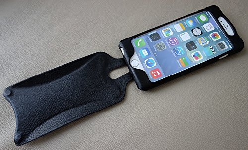 Amazon.com  Orbino Black Tuscan Pantera Sei Leather Case for Apple iPhone 6  Plus   6S Plus  Cell Phones   Accessories 2b288b60769c
