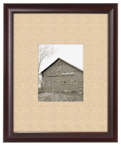 Malden International Designs Barnside Portrait Gallery Textured Mat Picture Frame, 8x10/16x20, Walnut