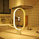 Heng Balance Lamp Allocacoc Ellipse magnetic mid-air switch USB powered LED lamp, Warm Eye-Care LED Lamp, Night Lamp, Table Lamp, Decoration for Bedroom, Living Room, Dining Room and Office (White)