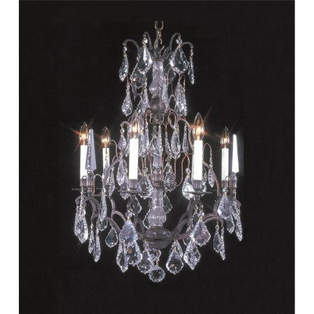 Weinstock Lighting 483016-8FG Antique Reproduction Versailles Chandelier  with French Pendelogue Trimming - French Gold - Weinstock Lighting 483016-8FG Antique Reproduction Versailles