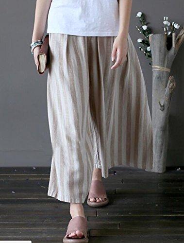 Donna Matchlife Pantaloni Kaki Raye Pantaloni Matchlife qtBtOr