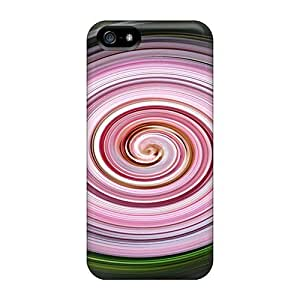 Iphone 5/5s Hard Back With Bumper Cases Covers Pink Whirl