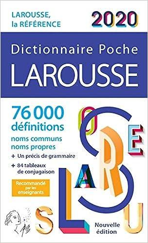 Larousse De Poche  Dictionnaire De La Langue Francaise
