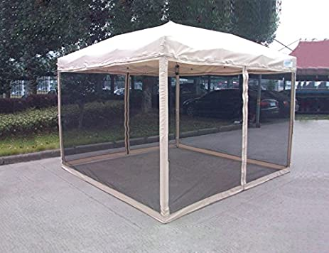 Peaktop Easy Pop Up Canopy Tent with Mesh Side Walls 6.6-Feet x6.6 & Amazon.com : Peaktop Easy Pop Up Canopy Tent with Mesh Side Walls ...