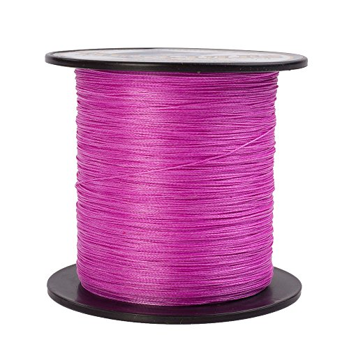 HERCULES Super Cast 100M 109 Yards Braided Fishing Line 15 LB Test for Saltwater Freshwater PE Braid Fish Lines Superline 8 Strands - Pink, 15LB (6.8KG), 0.16MM (Fishing Line Core)