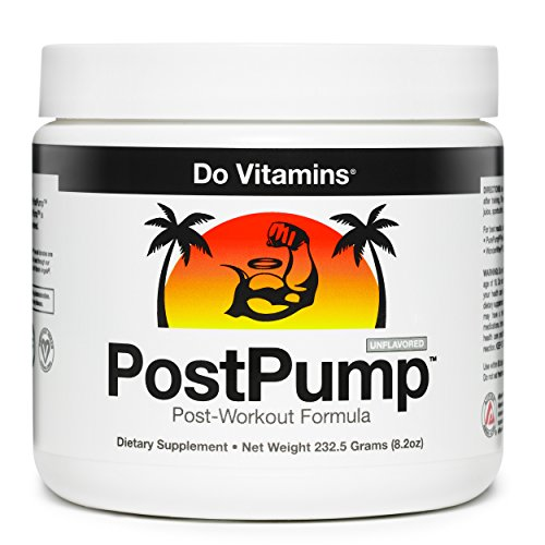 PostPump Clean Post Workout Recovery Drink Muscle Builder with Creapure Creatine Monohydrate, L Carnitine, BCAA Certified Vegan Paleo Keto (30 Servings)