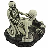 TBW Funny Dracula Lover Skulls Sexy Statue Sculpture Nude Woman Cigar Ashtray