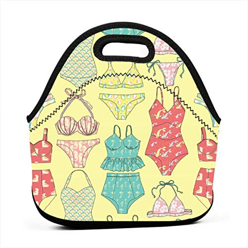Waikiki Bikinis In Sunset Yellow_2838 Lunch Bag Insulated for sale  Delivered anywhere in USA