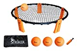 Striker Beach Volleyball Spike Game | Includes Ball (3) Net & Pump & Carry Bag | Exciting Fast Paced Outdoor Lawn Games | Perfect for Backyard, Beach, Tailgate | Fun for Kids Adults Family
