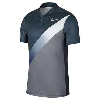 8da03c189a5d1 Nike Dry Fit Slim FA Print Golf Polo 2017 Armory Navy/Cool Gray/White