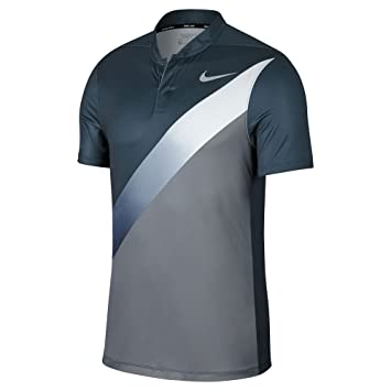 Nike Dry Fit Slim FA Print Golf Polo 2017 Armory Navy/Cool Gray/White