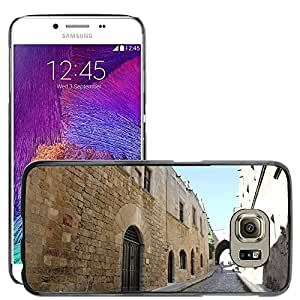 Hot Style Cell Phone PC Hard Case Cover // M00170555 Rhodes Greece Street Architecture // Samsung Galaxy S6 (Not Fits S6 EDGE)