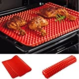 Jollylife Silicone Non-stick Healthy Cooking Baking Mat,Red