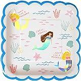 Meri Meri Mermaid Large Plate, 45-2787, Set of 8 Plates