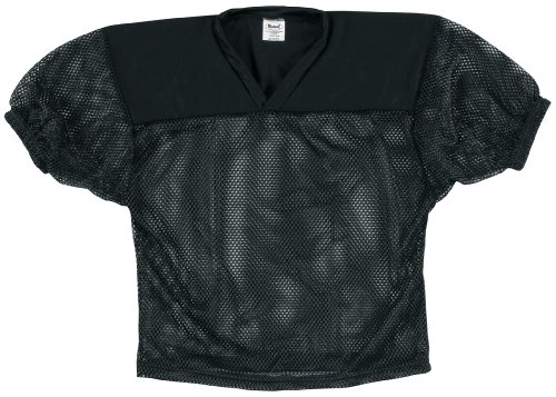 Markwort Adult Football Mesh Jersey (Black, Small/Medium)