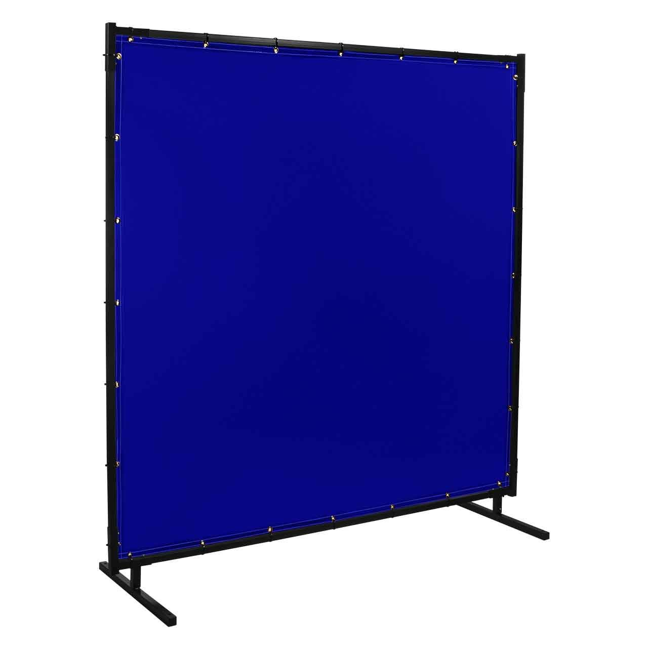Steiner 525HD-8X8 Protect-O-Screen HD Welding Screen with Flame Retardant 14 Mil Tinted Transparent Vinyl Curtain, Blue, 8' x 8' by Steiner