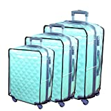 Hibate Clear Plastic Luggage Cover Suitcase Protector Covers - 28 inch