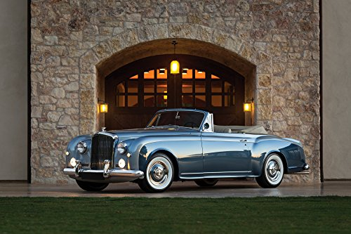 - Bentley S1 Continental Drophead Coupe by Park Ward (1955-1958) Car Print on 10 Mil Archival Satin Paper Blue Front Side Static View 16