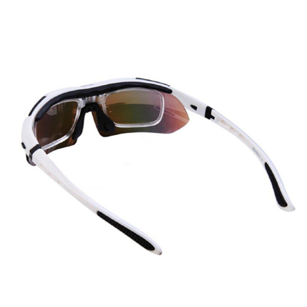 Sportbrille Radbrille Sonnenbrille Nebelschutz anti-fog Glas Weiss Rot Schwarz Gelb Gruen Blau pyjRfnD0t