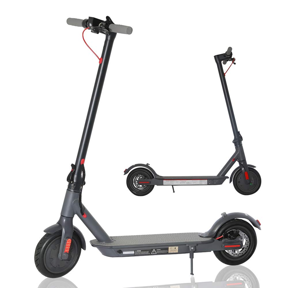 cho Electric Scooter Portable Lightweight Foldable Folding Commuter Kick Scooter Disc Brake LED Light E-Scooter with Durable 8.5'' Airfilled Tires UL Certified (Black) by cho