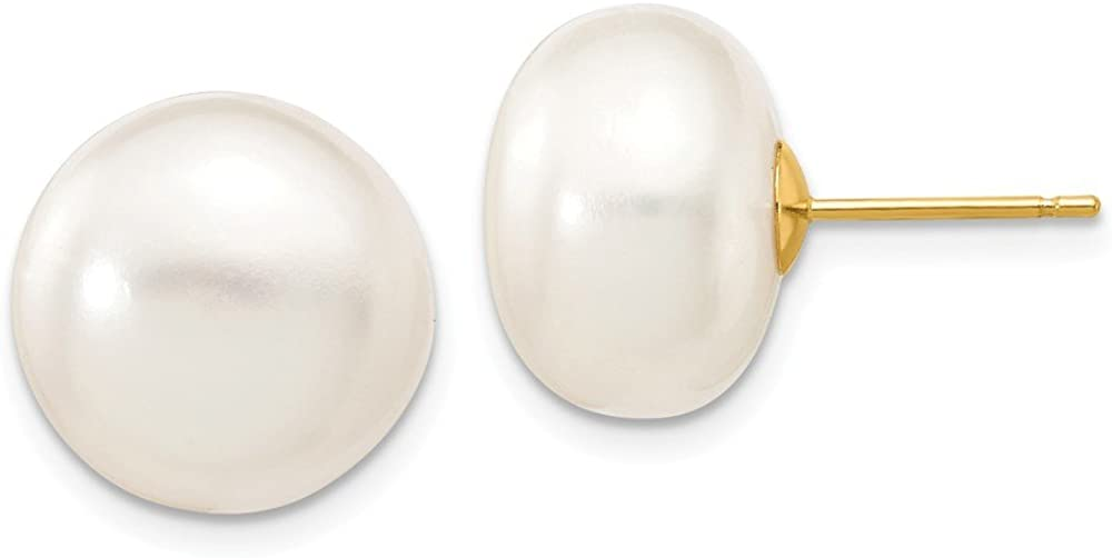 B00NC7HQUK 14k Yellow Gold 13mm White Button Freshwater Cultured Pearl Stud Post Earrings Ball Fine Jewelry For Women Gifts For Her 51y7i-4D3EL.UL1000_