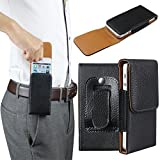 xhorizon™ Lateral Leather Magnetic Closure Case Bag Holster Pouch with Belt Clip For Apple iPhone 5/5s/5c/6/6 Plus Samsung Galaxy Note lll/Note 4 Galaxy S6/S5/S4/S3/S5 Mini HTC Sony LG Nokia Phones