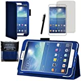"MOFRED® Royal Blue Samsung Galaxy Tab 3 8"" Case-MOFRED® Retail Packed Executive Multi Function Standby Case For Samsung Galaxy Tab 3 8.0 -8 inch Tablet + Screen Protector + Stylus Pen (Available in Mutiple Colors)"
