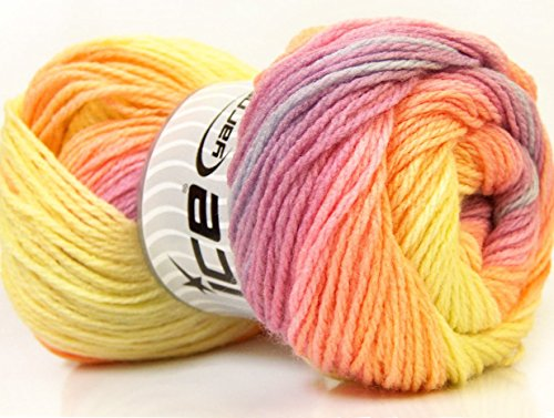 100gr Skeins Orchid Orange Yellow product image
