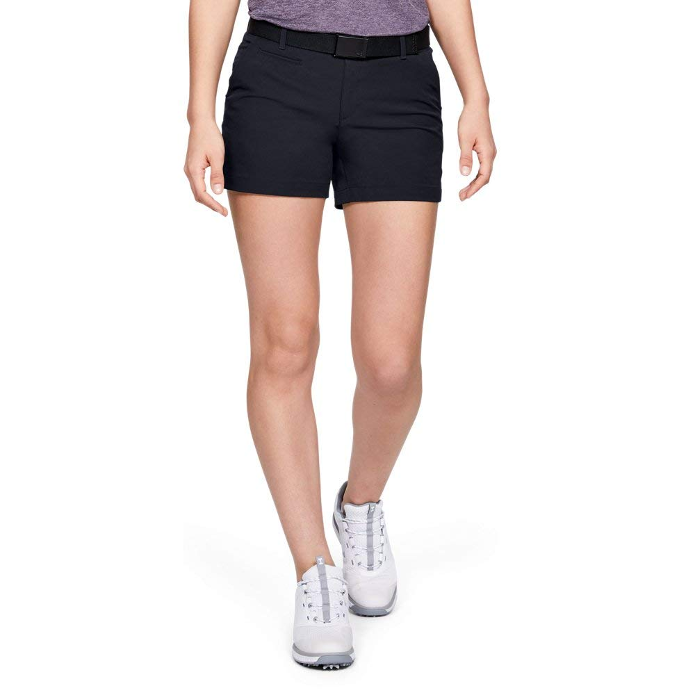 Under Armour Womens Links 4'' Shorty, Black /Black, 0 by Under Armour
