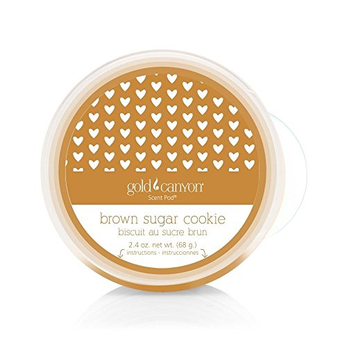 Gold Canyon Candles Scent Pod Wickless Candle (Brown Sugar Cookie) ~ Notes of Toffee, Brown Sugar, Cinnamon & (Strawberry Sugar Cookies)