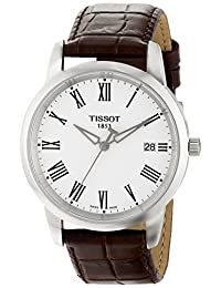 Tissot Classic Dream White Dial Brown Leather Mens Watch T0334101601301