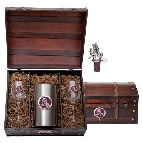 Arizona State Sun Devils Wine Chest Set by Heritage Pewter