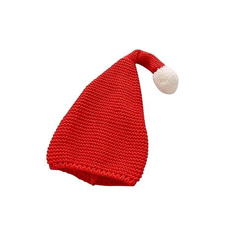 per Sombreros de Navidad para Niños Sombrero Tejido de Punto de Papá ...