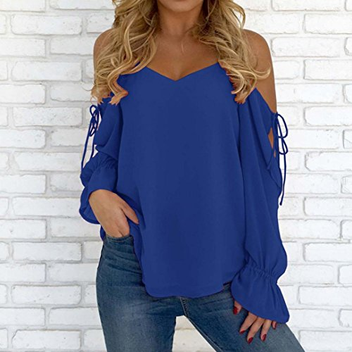 Bleu Solid Manches Courtes Chemisier Femme Routinfly vYUfqzWnw