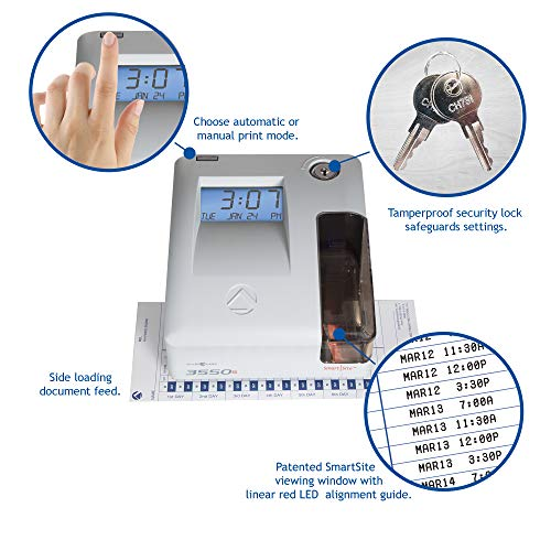Pyramid 3550ss SmartSite Time Clock and Document Stamp - Made in USA by Pyramid Time Systems (Image #5)