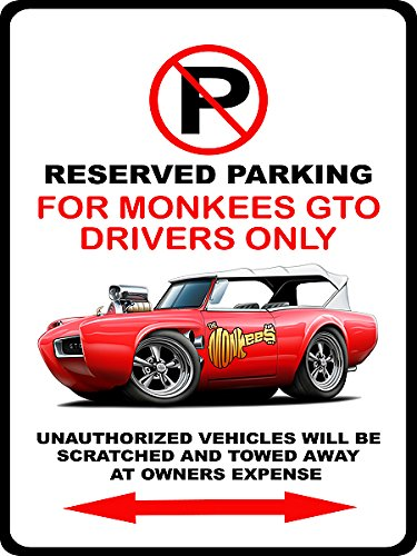 Monkees GTO Novelty Parking Sign